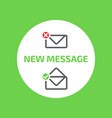 new message window outline envelope icon vector image