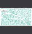 paris france city map in retro style outline map vector image