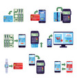 payment methods in retail and online purchases vector image vector image