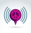 Peace propaganda icon with speech bubble vector image vector image