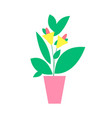 plant with flower poster vector image vector image