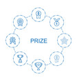 prize icons vector image vector image
