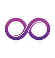 purple infinity symbol icons unlimited limitless vector image