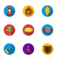 Russia country set icons in flat style Big vector image vector image