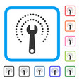 service tools wrench framed icon vector image