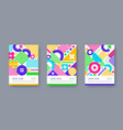 set posters with geometric shapes and pattern vector image vector image