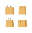 Shopping bags paper set isolated on white vector image vector image