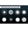 Sun burst star or snowflakes logo icon set vector image vector image