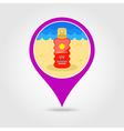 Sun Cream in Spray pin map icon Summer Vacation vector image vector image