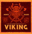 t-shirt print with viking emblems in vintage style vector image