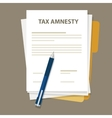 Tax amnesty government forgive vector image vector image