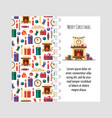 template christmas card with festive vector image vector image