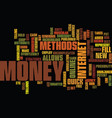 the online quick and legal cash methode no scam vector image vector image
