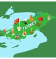 Turkey map isometric 3d style vector image vector image