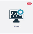 two color system icon from social media concept vector image vector image