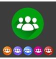 Users group social icon flat web sign symbol logo vector image vector image