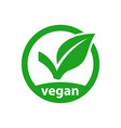 vegan icon product image vector image vector image