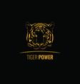 vintage tiger logotype or mascot emblem symbol vector image
