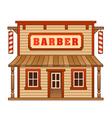 Wild West barber shop vector image vector image