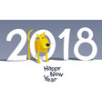 yellow dog 2018 vector image vector image