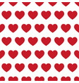 red hearts - seamless pattern vector image