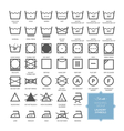 Set with thin line washing icons and laundry symbo vector image