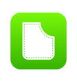 abstract pocket icon digital green vector image vector image