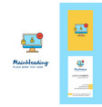 Avatar on monitor creative logo and business card