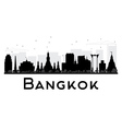 Bangkok City skyline black and white silhouette vector image vector image