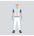 Baseball player uniform vector image vector image