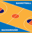 basketball pitch background vector image vector image