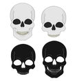 Black and white skull clip art vector image