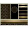 Black vintage abstract gold card vector image vector image