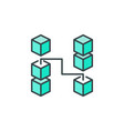 block-chain technology crypto icon or logo vector image