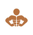 bodybuilding icon design template isolated vector image vector image