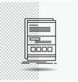browser dynamic internet page responsive line vector image vector image
