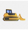 bulldozer icon cartoon style vector image