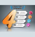 business four infographics origami style vector image