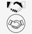 business handshake solid icon vector image