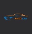 car logo emblems badges logo for service car vector image