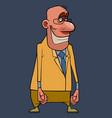 cartoon character bald man wearing glasses