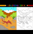 cartoon frilled lizard coloring book australian a vector image vector image