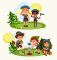 cartoon happy children having fun together in vector image vector image