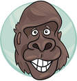 cartoon illustration of funny gorilla ape vector image vector image