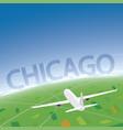 chicago flight destination vector image vector image