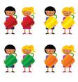 children holding papper vector image vector image