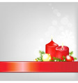 Christmas Background With Ribbon vector image vector image