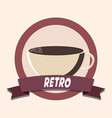 Coffee shop retro shopping vintage label