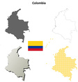 Colombia outline map set vector image vector image