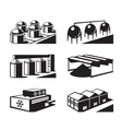 Commercial and industrial warehouses vector image vector image
